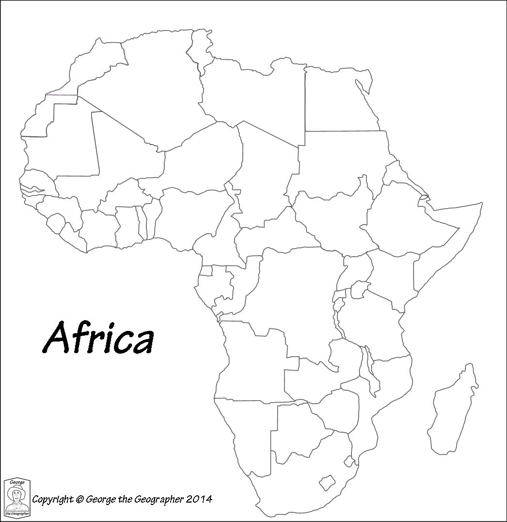 Plain Africa Map.Outline Base Maps