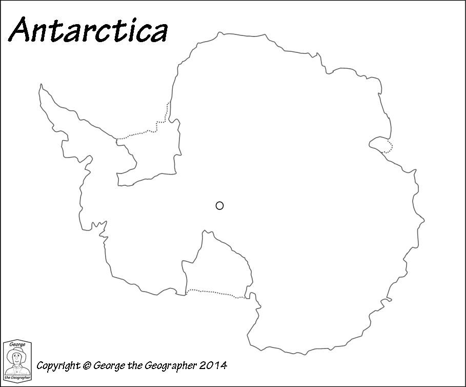 outline map of antarctica continent Outline Base Maps outline map of antarctica continent