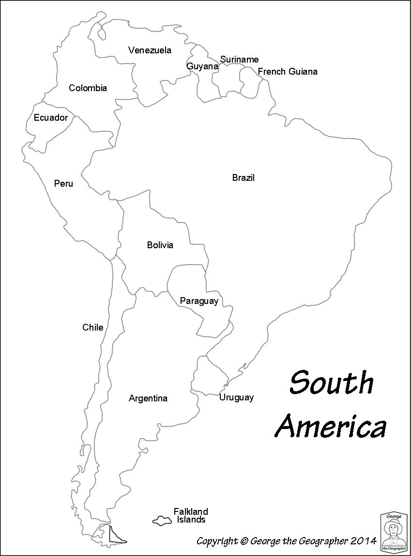 Outline Base Maps - Argentina map black and white