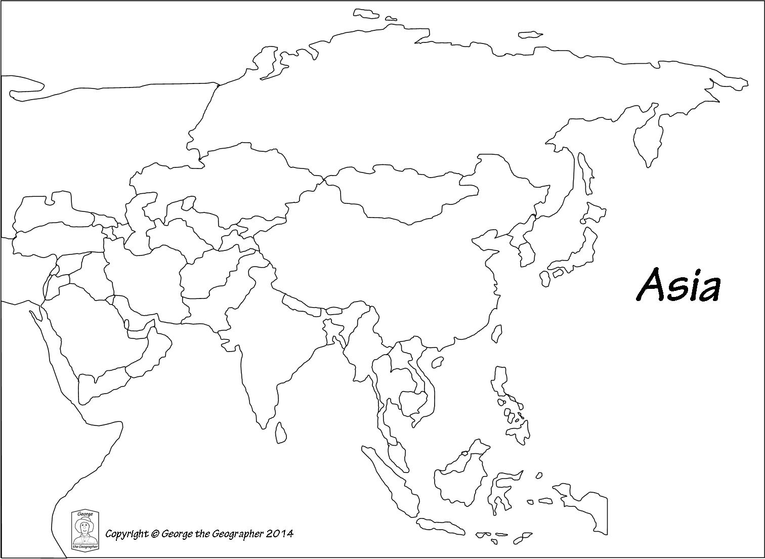 Outline Map Of Asia Outline Base Maps